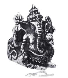 Ganesha ring 316 titanium staal maat 20