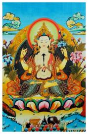 Tibetaanse thanka Chenrezig Bodhisattva - 60 x 90 cm