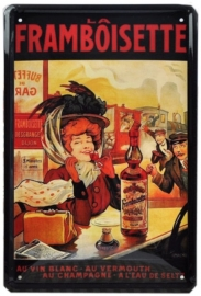 Tin sign Framboisette 20 x 30 cm