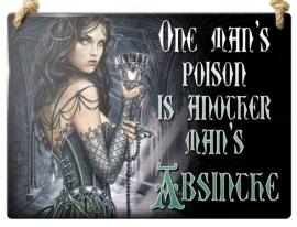 Emaille wandborden alchemy - One man's poison