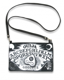 Platte schoudertas - Ouija - 17 x 26 cm