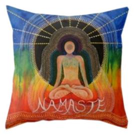 Kussenhoes Chakra Namaste - 45 x 45 cm