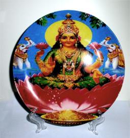 Sierbord met standje - Lakshmi op Lotus - 21 cm doorsnee