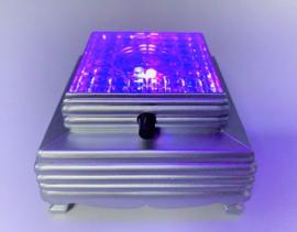 Lichtvoet zilver vierkant - 8 x 8 cm