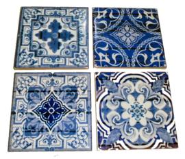 Marokkaanse Islamitische style keramieke onderzetters - 9 x 9 cm
