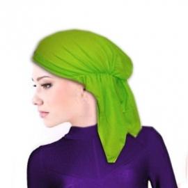 Bandana / hoofddoek / tricot muts groen