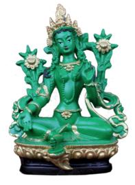 Beeld Tibetaanse Groene Tara Bodhisattva 13 cm hoog