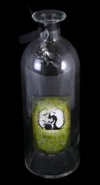 Heldere glazen fles Witch's Brew 20 cm hoog