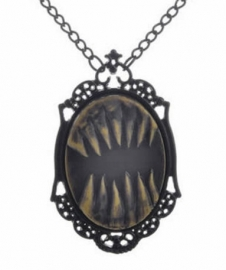 Gothic horror steampunk camee ketting griezelige tanden