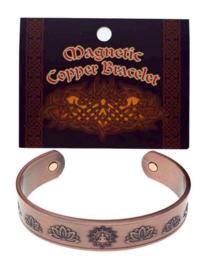 Armband koper brons magnetisch Boeddha Lotus