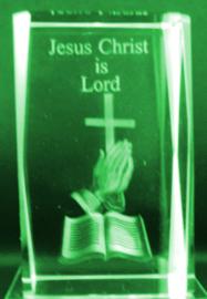 laserblok bijbel met kruis 5 X 5 x 8 cm