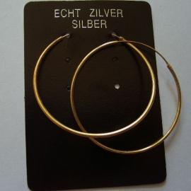 Creolen van vergulde zilver 4 cm