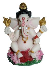 Ganesha met zwarte haren en rode broek - 9 cm hoog