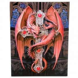 Gothic Guardian  - wandbord van Anne Stokes - 25 x 19 cm