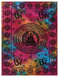 Bedsprei / wandkleed Boeddha gekleurd - 210 x 230 cm