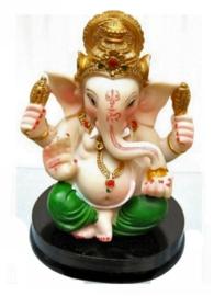 Beeld Ganesha met groene broek - 9 cm hoog