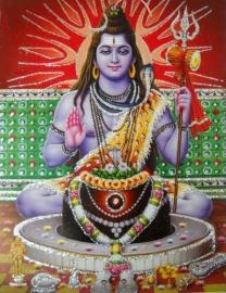 Hindu poster Shiva 2 - 23 x 29 cm