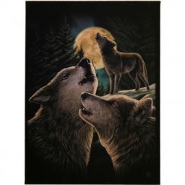 Wolf Song - wandbord van Lisa Parker - 25 x 19 cm