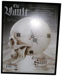 Alchemy of England - Tempore Mortis doodskop wandklok - 21 cm hoog