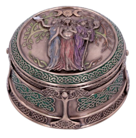 Maiden Mother Crone - Wicca Keltische sieradendoos - 9.5 cm doorsnee
