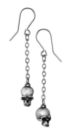 Alchemy Gothic oorbellen - Dead Skulls