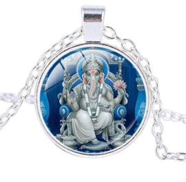 Glazen hanger met ketting Ganesha dessin 11
