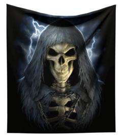 Fluwelen bedsprei woondeken The Reaper - van James Ryman -140 x 160 cm