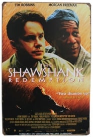 Blikken metalen wandbord Shawshank Redemption 20 x 30 cm
