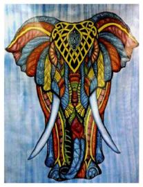 Bedsprei wandkleed olifant gekleurd 220 x 210 cm