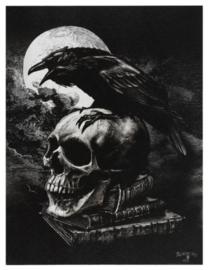 Alchemy England canvas wandbord - Poe's Raven - 19 x 25 cm