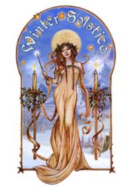 Winter Soltice - Wicca Pagan Kerstkaart van Briar 17.5 x 13,5 cm