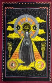 Bedsprei wandkleed Santa Muerte Mexicaanse Magere Hein Heilige Dood - 140  x  210 cm
