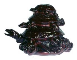 Feng Shui 3 Schildpadden donkerbruin 8 x 10 cm