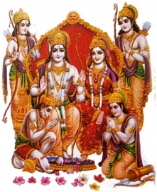 Sticker Shiva Parvati Hanuman