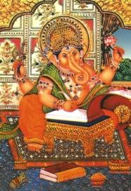 Briefkaart / Hindu wenskaart Ganesha 9