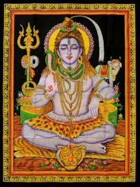 Wall tapestry Shiva - sitting