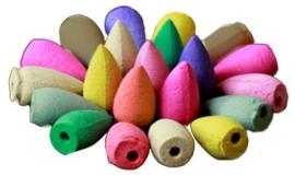 Backflow wierookkegels diverse kleuren en geuren