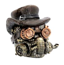 Masked Menace Steampunk Doodskop - 16 cm hoog