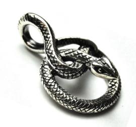 925 zilveren kettinghanger slang - 2.5 cm lang
