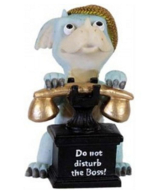 Draak met Telefoon - Do Not Disturb the Boss - 10 cm hoog