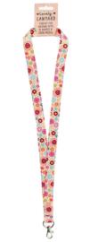 Sleutelhanger hippie bloemen