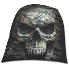 Spiral Direct - Camo Skull - doodskop met camoflagedessin - katoenen muts - beanie