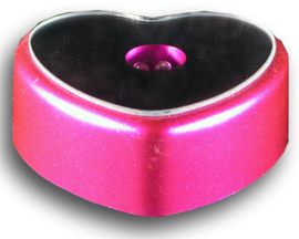 Lichtplateautje met gekleurd licht - hartvormig - roze