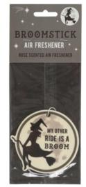 Luchtverfrisser Broomstick - roos