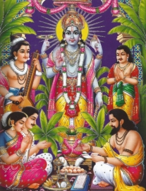 Hindu poster Ram - 23 x 29 cm