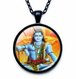 Glazen hanger met ketting Shiva 1