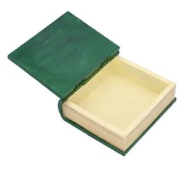 Book of Spells boekendoos groen 15.5 cm