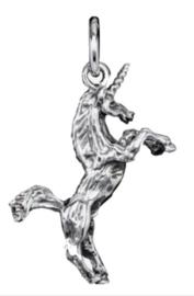 925 Sterling zilveren kettinghanger steigerend eenhoorn - 2.1 cm lang