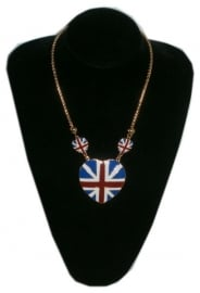 Enamel necklace Union Jack