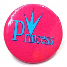 Retro button Princess